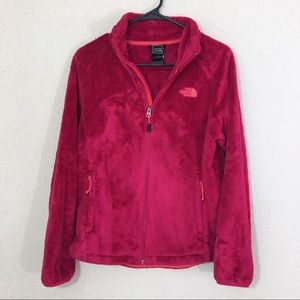 The North Face Bright Pink Fuzzy Osito Jacket M